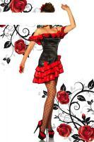 Foto 2 Flamenco-Kostüm schwarz/rot Gr. M-L - OVP - NEU