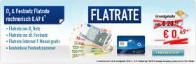 Flatrate Festnetz & o2-Netz, Flat M wie Genion L ,180€ Bargeld/Auszahlung 0,49€