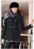 Foto 2 Flausch-Jacke schwarz von Aniston Gr. 38 - OVP - NEU