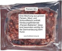 Pansen Mix ein Mix aus Grünem Pansen und Fleisch