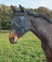 Fliegenmaske mit Ohrenschutz und Nüsternkordel