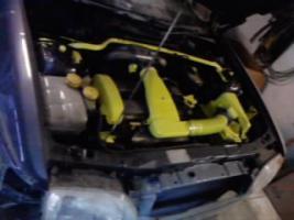 Ford Escort Motor und Getriebe