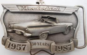 Ford Thunderbird 30th Anniversary American Buckle G�rtelschnalle 1987