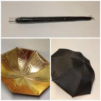 Foto Reflexschirm gold-schwarz, 1m Durchmesser (ohne Befestigung)