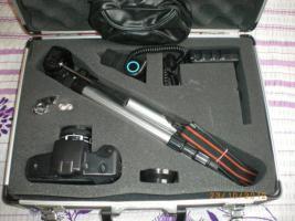Fotoausrüstung mit Koffer
