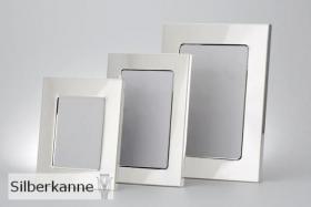 Fotorahmen glatt 9x13 cm, versilbert / SILBER plated