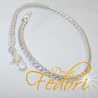 Foxtail-Karabiner-Armband für Beads 925 Sterling Silber ca. 19 cm