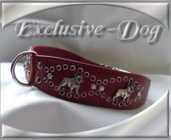 Foto 2 Französische Bulldogge Halsband Lederhalsband mit SWAROVSKI ELEMENTS by EXCLUSIVE-DOG