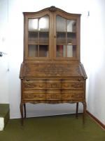 Foto 2 Franz�sischer Vitrinenaufsatz-Sekret�r im Louis XV Stil aus Eiche.