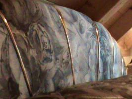 Foto 4 Französisches Bett mit Matratzen und Tagesdecke