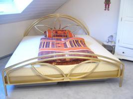 Französisches Bett  24 Karat vergoldet 180 x 200