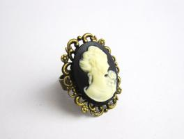 '' Frauenporträt '' Cameo / Kamee Ring