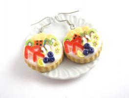 Frucht Tart Ohrringe