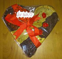 Fruchtig Schokoladiger Herz Cookie 24x24 cm mmm.