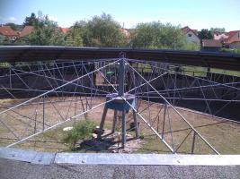 F�hrmaschiene f�r 10 Pferde Durchmesser 28 Meter