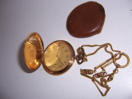 Für Sammler: ARCO Taschenuhr mit Kette * Gold * 14k - 585er