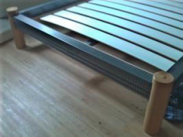 Foto 2 Futonbett Eisen / Holz
