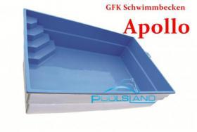 GFK Schwimmbecken Apollo 5x3x1,45 Schwimmbad Fertigbecken