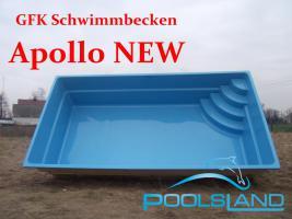 GFK Schwimmbecken Apollo NEW 6x3x1,45 Schwimmbad Fertigbecken