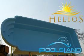 GFK Schwimmbecken Helios 7,5x3,3x1,5 Schwimmbad Fertigbecken