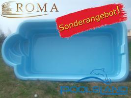 GFK Schwimmbecken ROMA 5x2,55x1,1 Einbaubecken Polyesterbecken