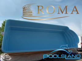 GFK Schwimmbecken ROMA 6x3x1,45 Einbaubecken Polyesterbecken