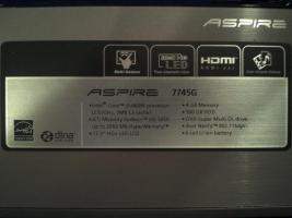 Foto 2 (Gaming) Laptop ACER 7745G + 5 Spiel