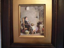 Foto 4 Ganz antik, A. Van Muyden (1818-1898), original Ölbild, Leinwand, brauner, dicker Rahmen, gutes Kunstbild