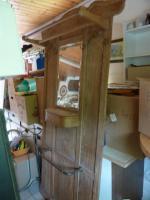 Garderobe, antik, Mooreiche