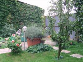 Foto 2 Garten mit Blockhaus