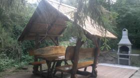Garten Garnitur aus Kieferholz