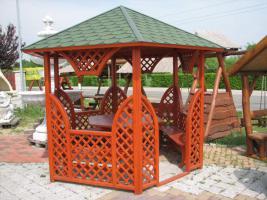 Garten-Pavillon, Salettel, Garnitur mit Dach für 8 Personen  EUR 1400