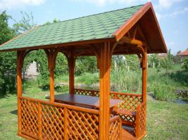 Foto 2 Garten-Pavillon, Salettel, Garnitur mit Dach für 8 Personen  EUR 1400