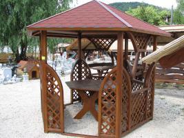 Foto 3 Garten-Pavillon, Salettel, Garnitur mit Dach für 8 Personen  EUR 1400