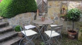 Garten-Sitzgruppe im Biergartenstil