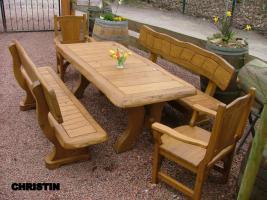 Foto 11 Garten- und Terrassenmöbel, Gartengarnituren aus Massivholz