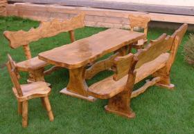 Foto 3 Garten- und Terrassenmöbel, Gartengarnituren aus Massivholz