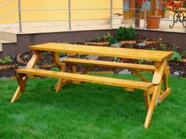 Foto 3 Gartenbank und Biertischgarnitur in einem