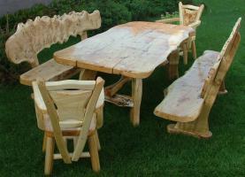 Foto 2 Gartengarnituren aus Massivholz