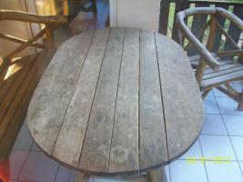 Foto 5 Gartenmöbel, Sitzgruppe, Holz, Gartentisch, Terrassentisch, Bank, Unikat