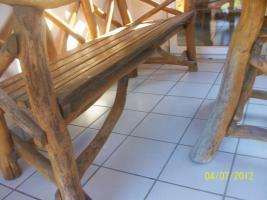 Foto 9 Gartenmöbel, Sitzgruppe, Holz, Gartentisch, Terrassentisch, Bank, Unikat