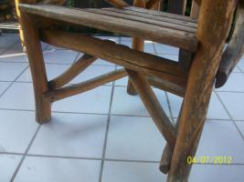 Foto 10 Gartenmöbel, Sitzgruppe, Holz, Gartentisch, Terrassentisch, Bank, Unikat