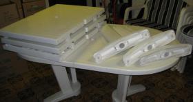 Foto 2 Gartensitzgarnitur Tisch Stühle Bank Auflagen