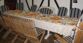 Foto 3 Gartensitzgarnitur Tisch Stühle Bank Auflagen