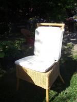 Foto 4 Gartentisch 4 Stühle aus Rattan neuw.