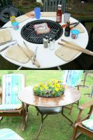 Gartentisch Grilltisch   TischgrillTisch Grill Esstisch Bistrotisch Küchentisch