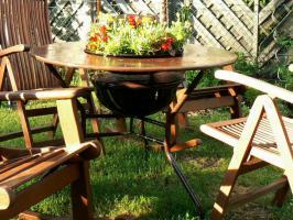 Foto 2 Gartentisch Grilltisch   TischgrillTisch Grill Esstisch Bistrotisch Küchentisch