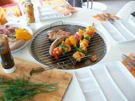 Foto 4 Gartentisch Grilltisch   TischgrillTisch Grill Esstisch Bistrotisch Küchentisch