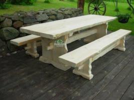 Gartentisch  ''Heime'' mit zwei Bänken