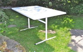 Gartentisch, wetterfest, in weiß, 120 x 80 cm